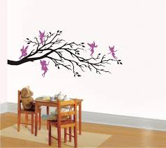 Nursery Tree Stickers For Walls Wall Art Vinyl Decal Fantasy Five Fairies And Branch Nursery