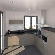 cuisine bois gris moderne impressionnant cuisine bois gris avec cuisine bois clair moderne