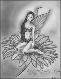 flower fairy old drawing by katerina art on deviantart