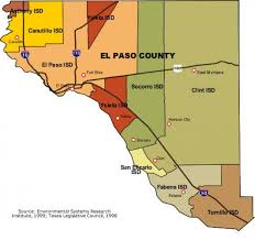 Iso Map El Paso District Map El Paso Map Texas Usa