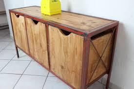 Table Repas Style Industriel by Meuble Buffet Industriel Acier Loft Industeel