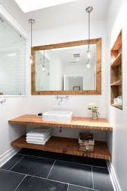 Eclectic Bathroom Ideas Bathroom White Porcelain Toilet Wooden Rack Bathroom Bath Bar