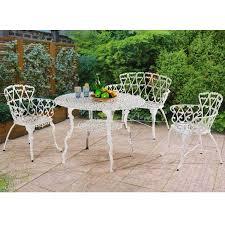 White Aluminum Patio Furniture by Sunjoy Arriva White Aluminum 4 Piece Bistro Table Set Free