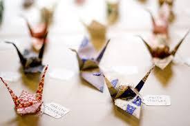 wedding inspiration origami paper cranes glendalough manor