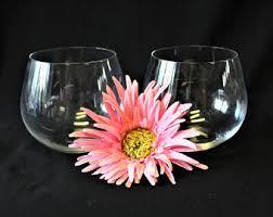 vintage stemless wine glasses etsy