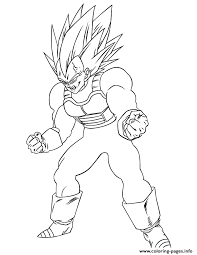 dragon ball z super vegeta coloring page coloring pages printable