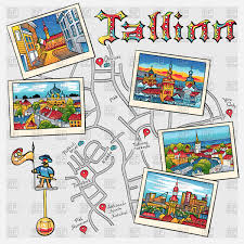 Map Types Tallinn Map Travel Book With The Most Popular Types Of The
