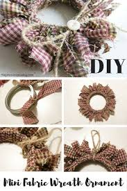 diy homespun fabric ornament 4 different tutorials