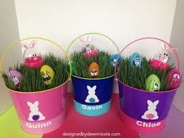 painted easter buckets be your own easter bunny with diy easter baskets thegoodstuff
