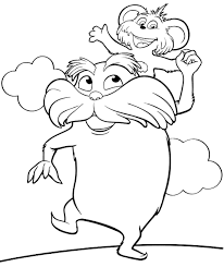 printable lorax coloring pages coloring me
