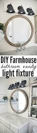 diy farmhouse bathroom vanity light fixture vanity light