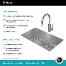 stainless steel kitchen sink combination kraususa com kraus kitchen combo with handmade undermount stainless steel 30 in single bowl 16 gauge kitchen
