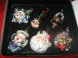 nib 2003 klaus faces of 6 large ornaments