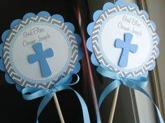 Centerpieces For Boy Baptism by Baptism Centerpieces For Boys Baby Blue Cross U0026 Dove Decorations