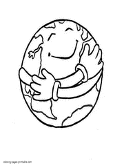 earth coloring pages recycling