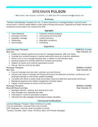 Resume Samples Livecareer by Massage Therapist Resume Ingyenoltoztetosjatekok Com
