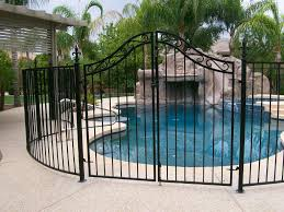 modern style metal fence gates with arizona pool fencing and gates