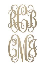 monogram initials wooden monograms wooden initials wall monogram