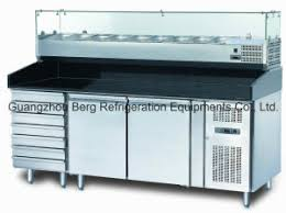 Commercial Prep Table China Three Door Commercial Pizza Prep Table Refrigerator With