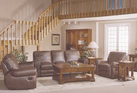 country style brown leather sofa set with sofa loveseat and chair