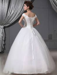 buy cheap white big ball gown wedding dresses 2013 with off shoulder