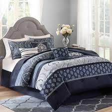 bedding set dramatic navy blue grey elephant crib bedding