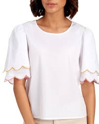 stein mart blouses tiered scallop sleeve blouse tops contemporary shops stein