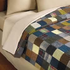 the genuine tweed patchwork quilt hammacher schlemmer