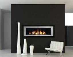 modern design living room with rhapsody direct vent gas fireplace