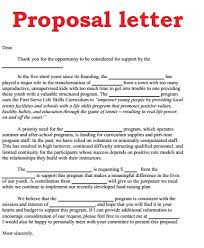 proposal letter pdf business proposal template pdf business
