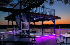outdoor led strip lighting ideas christmas light deck lights white