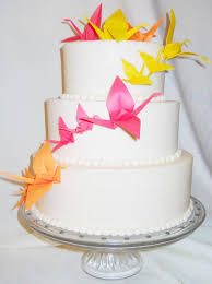 Origami Wedding Cake - paper origami 3 tier wedding cake cake by joyce nimmo cakesdecor