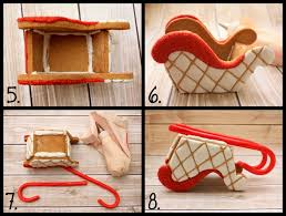 lilaloa gingerbread sleigh tutorial and template her stuff is
