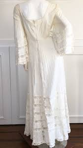 1970s vintage fred leighton mexican lace wedding dress size 12