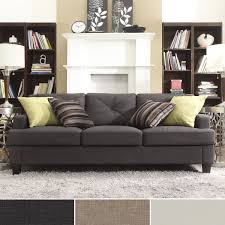 How To Clean Linen Sofa Elston Linen Tufted Sloped Track Sofa Inspire Q Modern Free