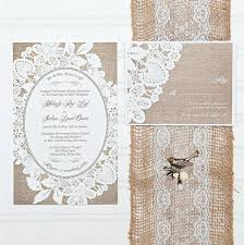 Burlap And Lace Wedding Invitations Burlap And Lace Wedding Invitations Budget Invitation Invitation