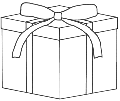 christmas present coloring pages u2013 happy holidays