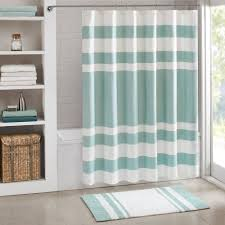 Cloth Shower Curtains Park Spa Waffle Weave 3m Scotchgard Fabric Shower Curtain