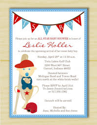 theme sports themed baby shower invitation
