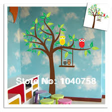 aliexpress com buy cartoon owl wall stickers for kids rooms home