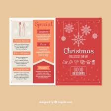 beautiful red christmas menu vector free download