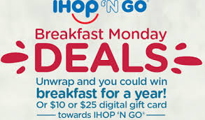 win gift cards ihop n go gift card instant win sweepstakes 1 200 prizes
