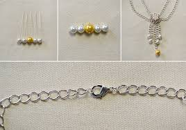 make beaded chain necklace images How to make easy flower bead chain necklace in 10 minutes jpg