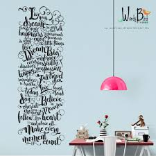 salon decal etsy office decor live your dream wall decal hand lettered typographic gold inspirational quote make every moment count