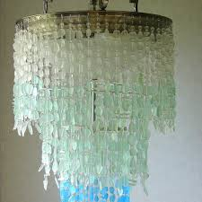 Sea Glass Chandelier Coastal Radiance Lighting Artisan Crafted Glass Lighting Fixtures