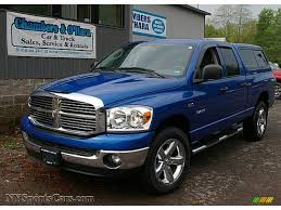 electric 4x4 2008 dodge ram 1500 big horn edition quad cab 4x4 in electric blue