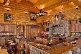 elegant and peaceful log home kitchen design log home kitchen