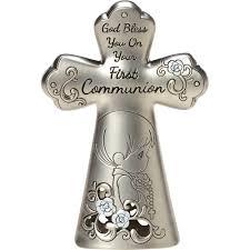 precious moments baptism christening gift cross figurine