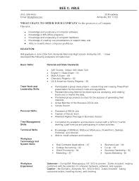 basic computer skills resume exle computer skills for resume cliffordsphotography com