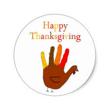 happy thanksgiving stickers zazzle co uk